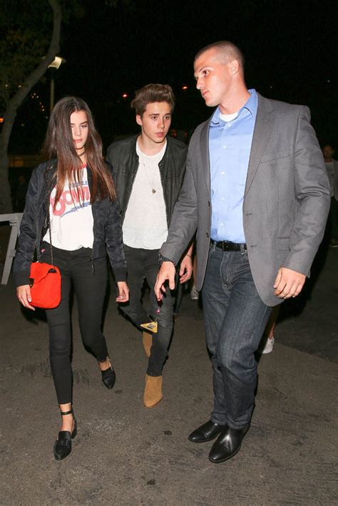Brooklyn Beckham leaves a concert in LA with girlfriend