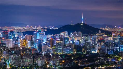 Beautiful City in Night, Cityscape Stock Footage Video