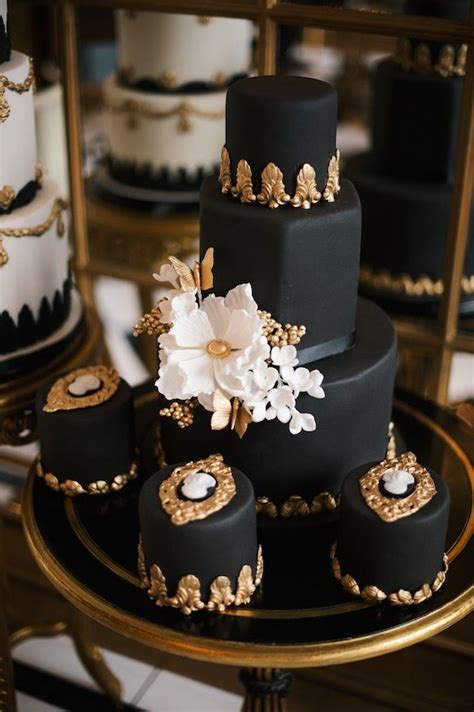 49 Amazing Black and White Wedding Cakes | Deer Pearl Flowers