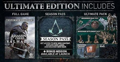 Assassin's Creed Valhalla Preorder Bonuses and Editions