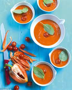 Red hot: Smoked red pepper soup | Daily Mail Online