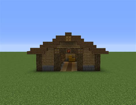 Horse Stable - Blueprints for MineCraft Houses, Castles