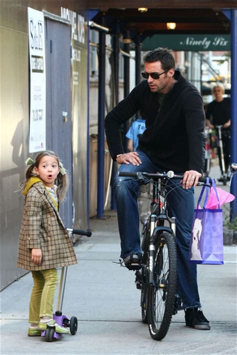 Hugh Jackman and Family in the West Village - Zimbio