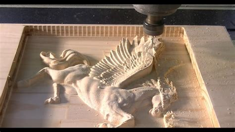 158 CNC router machining the 3D relief of Pegasus | Hobby