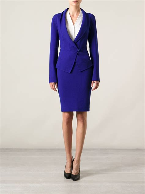 Armani Skirt Suit in Blue - Lyst