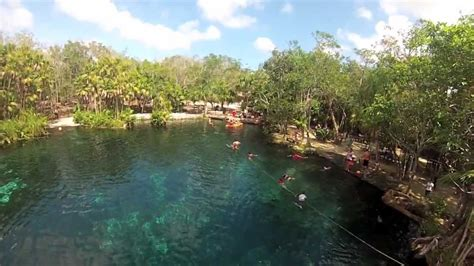 Jumping into Cenote Cristal Tulum, Mexico - YouTube