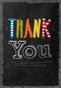 For All of Your Help - Thank You Card Template (Free