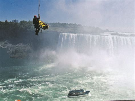 How did these people survive a plunge over Niagara Falls
