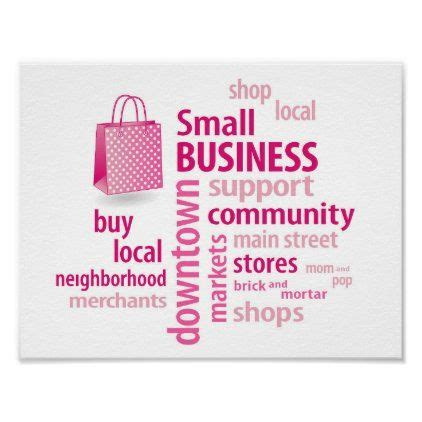 Small Business, Shop Local, Buy Local, Poster   Zazzle